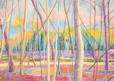 Forest I Huile sur toile 97 cm x 146 cm