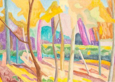 Forest III Huile sur toile 50 cm x 150 cm