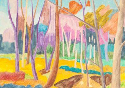 Forest IV Huile sur toile 50 cm x 150 cm