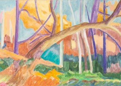 Forest VII Huile sur toile 30 cm x 90 cm