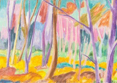 Forest VIII Huile sur toile 30 cm x 90 cm