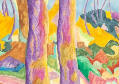 Forest XI Huile sur toile 50 cm x 150 cm