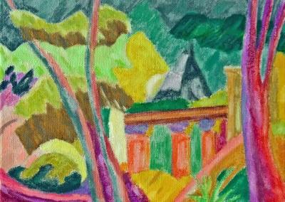 Les Roches Brunes II Huile sur toile 24cm x 33 cm