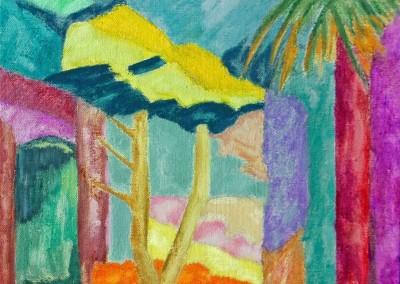Les Roches Brunes III Huile sur toile 20 cm x 27 cm