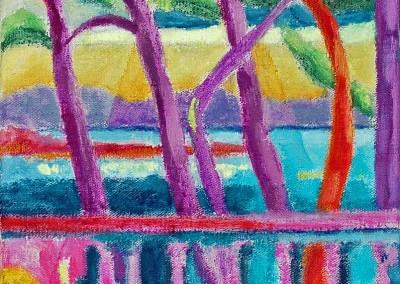 Les Roches Brunes XIV Huile sur toile 27 cm x 20 cm