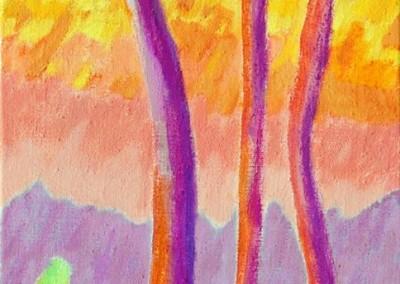 Roches Brunes I Huile sur toile 45 cm x 20 cm