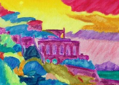 Roches Brunes IX Huile sur toile 20 cm x 27 cm