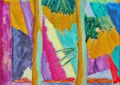 Roches Brunes VI Huile sur toile 40 cm x 20 cm