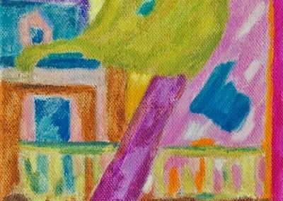 Roches Brunes VII Huile sur toile 40 cm x 20 cm