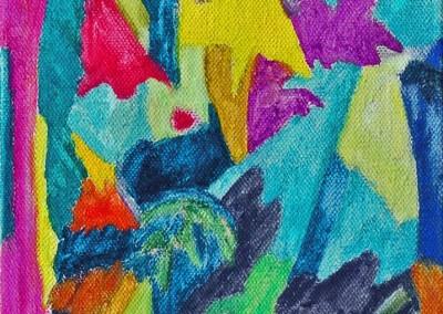 Roches Brunes X Huile sur toile 33 cm x 22 cm