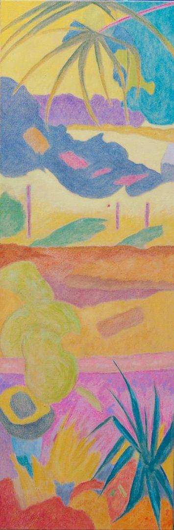 Abstraction/Huile sur toile/Dimensions 50 cm x 150 cm