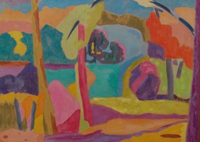 Bord de fleuve II /Huile sur toile /Dimensions 92 cm X 73 cm
