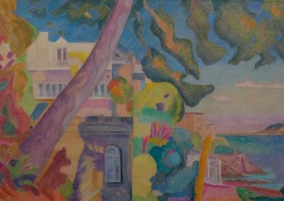Composition/Huile sur toile/Dimensions 130 cm x 89 cm