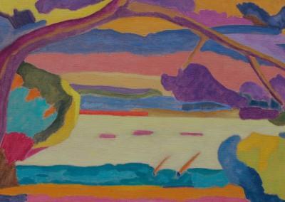 Crépuscule / Huile sur toile / Dimensions 80 cm x 40 cm
