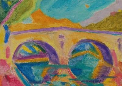 Paris bridge / Huile sur toile / Dimensions 20 cm x 27 cm