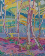 Sous-bois II/Huile sur toile/Dimensions 73 cm x 92 cm