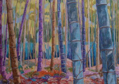 collection particulière Bamboos Huile sur toile 81 cm x 116  cm