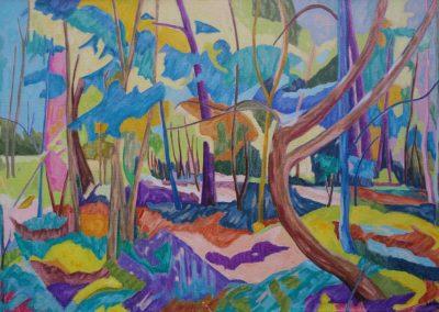 Collection particulière Forest XIV huile sur toile 81 cm x 116 cm
