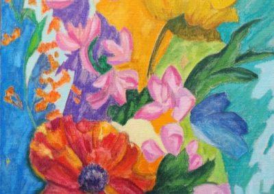 flowers-II-huile-sur-toile-100-cm-x-50-cm