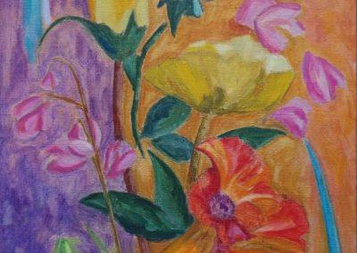 flowers-III-huile-sur-toile-100-cm-x-50-cm
