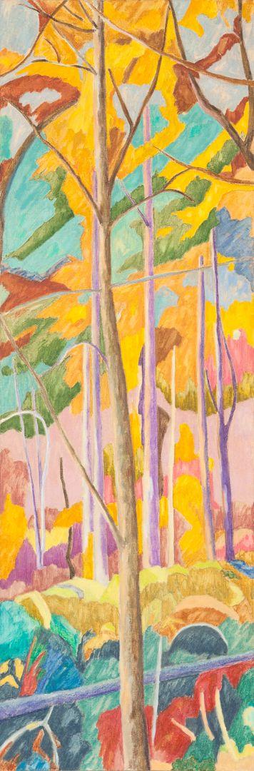 Forest II Huile sur toile 150 cm x 50 cm