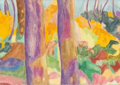 Forest IX Huile sur toile 30 cm x 90 cm