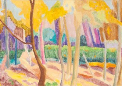Forest V Huile sur toile 30 cm x 90 cm