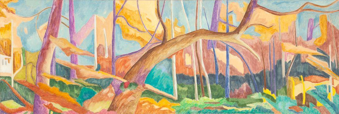 Forest VI Huile sur toile 50 cm x 150 cm