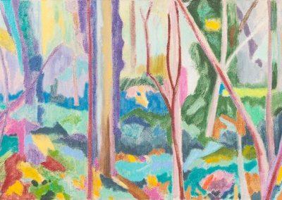 Forest X Huile sur toile 30 cm x 90 cm