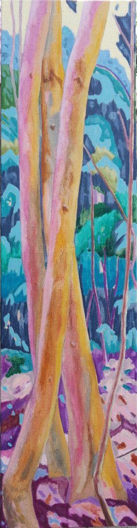 Forest XIX Huile sur toile 120 cm x 30 cm