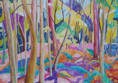Forest XVHuile sur toile 73 cm x 92 cm