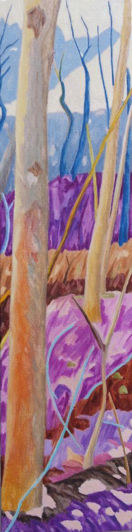 Forest XX Huile sur toile 120 cm x 30 cm