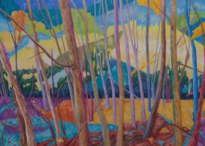Forest XXI Huile sur toile 89 cm x 130 cm