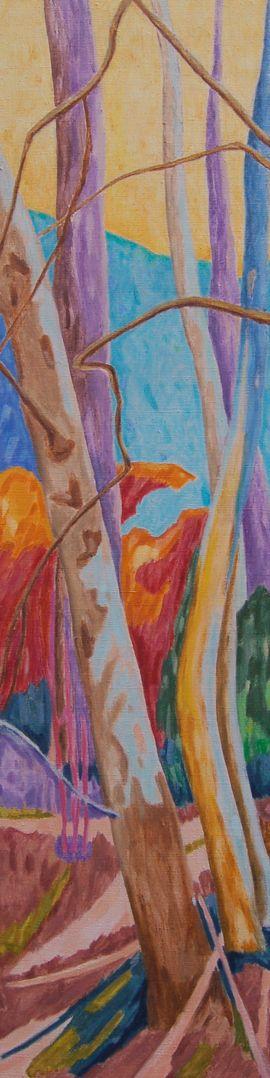 Forest XXIV Huile sur toile 120 cm x 30 cm