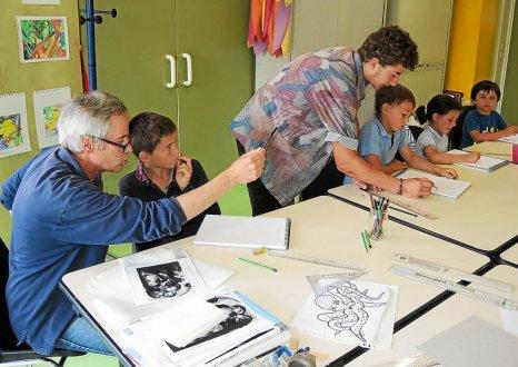 La Source. Bande dessinée et peinture au programme des enfants