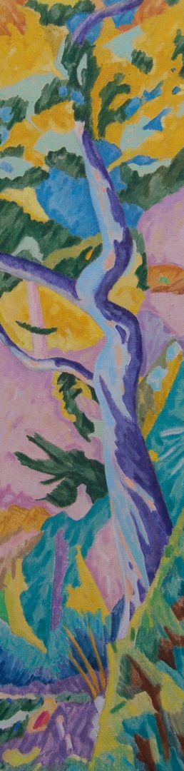 Paysage maritime V Huile sur toile 120 cm x 30 cm