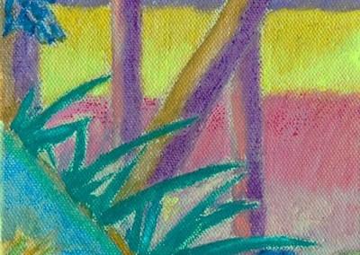 Roches Brunes VIII Huile sur toile 40 cm x 20 cm