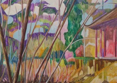 Tropical Garden X Huile sur toile 195 cm x114 cm