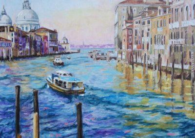 Venise Huile sur toile 73 cm x 92 cm
