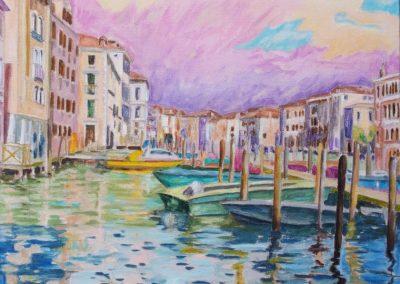 Venise II Huile sur toile 65 cm x 92 cm