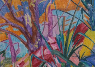 Yuccas huile sur toile 73 cm x 50 cm