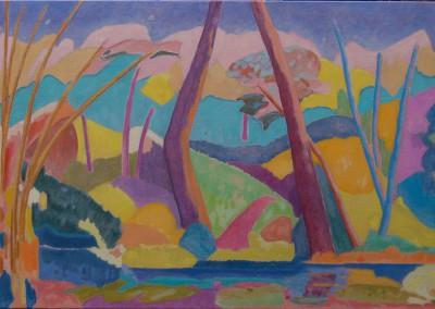 Collection privée Paris/Jardin tropical III /Huile sur toile /Dimensions 130 cm x 89 cm