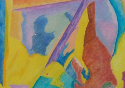 Landscape II / huile sur toile / Dimensions 120 cm x 60 cm