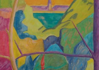 Landscape III / Huile sur toile / Dimensions 100 cm x 73 cm