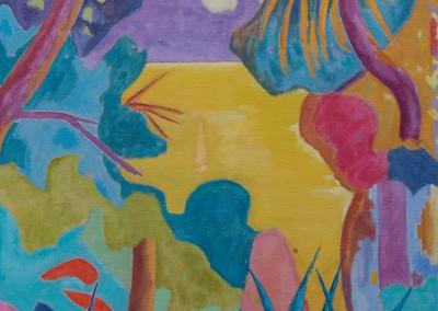 Paysage maritime IV / Huile sur toile / Dimensions 92 cm x 73 cm