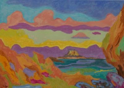 Seaside III /Huile sur toile / Dimensions 92 cm X 65 cm