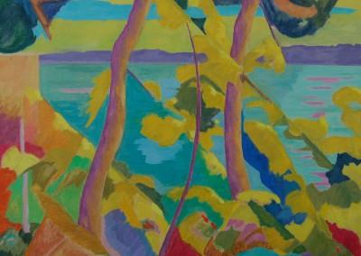 Seaside landscape / Huile sur toile / Dimensions 90 cm x 90 cm